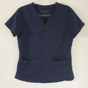 Grey's Anatomy | Navy Blue Scrub Top